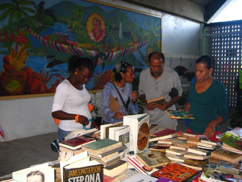 Dominica Lit Fest book drive 2011