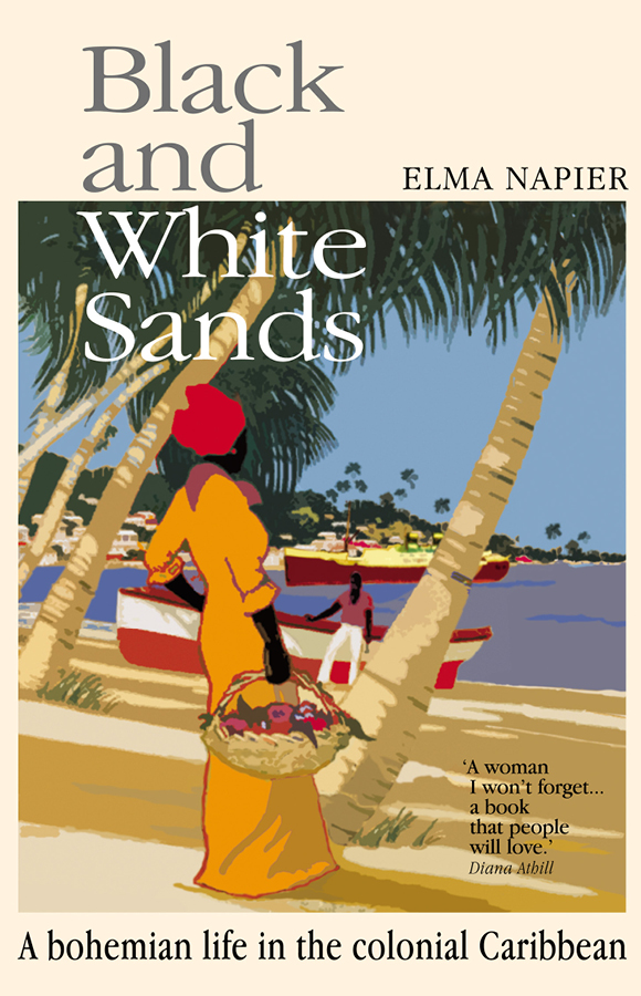 Book cover for Black and White sands, Papillote Press, Dominica
