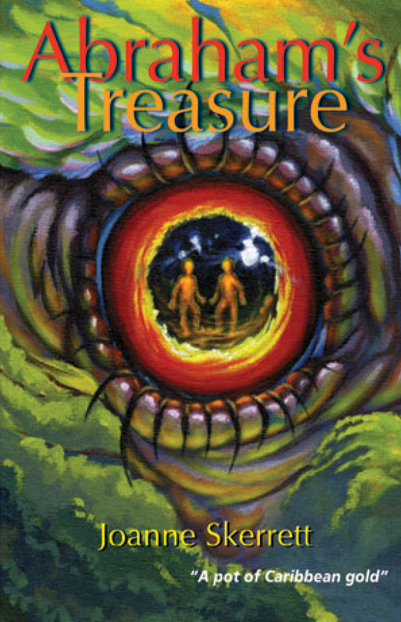 Book cover for Abraham's Treasure, Papillote Press, Dominica